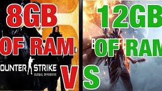 More RAM = More FPS?!  (8 GB V.S 12 GB)