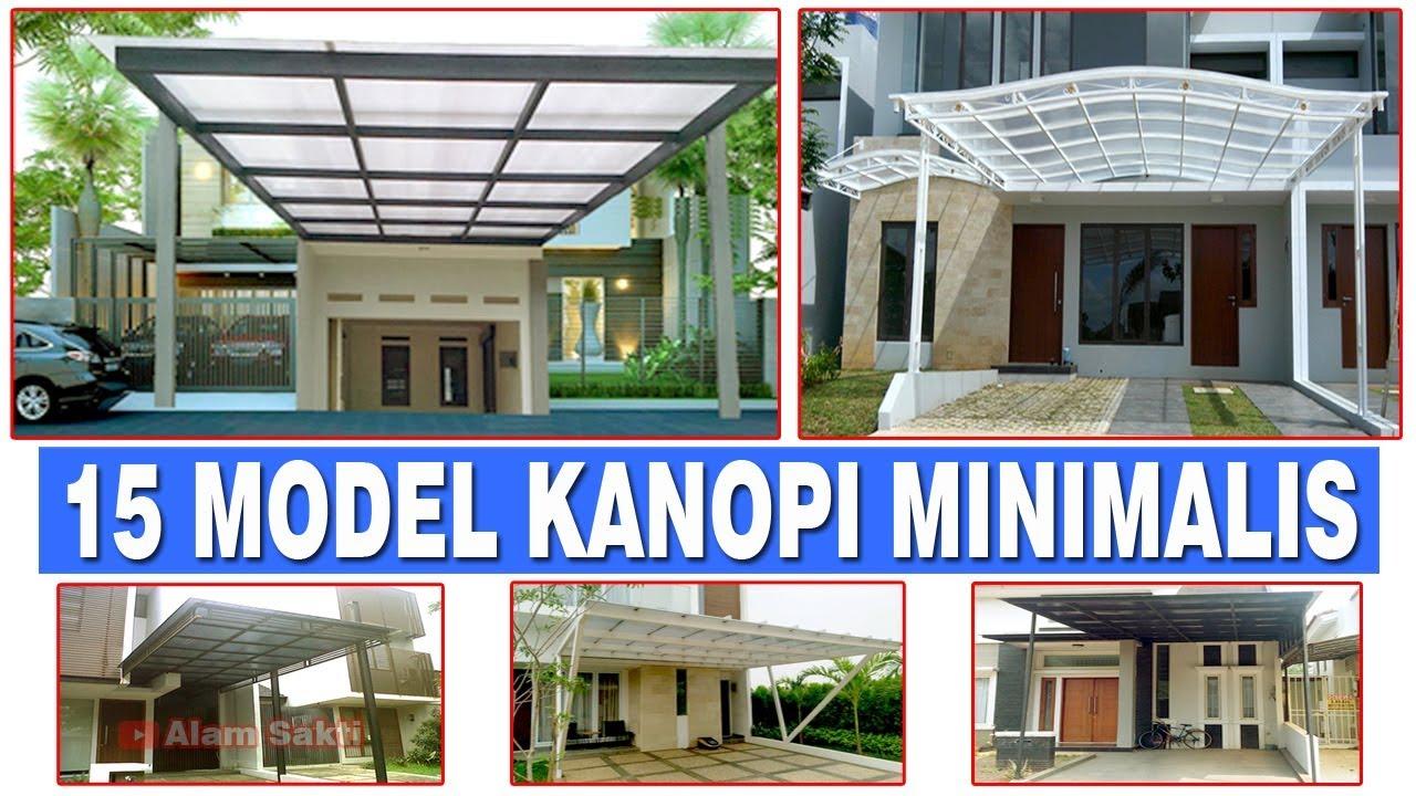Download 15 Contoh Desain KANOPI RUMAH MINIMALIS Atap POLYCARBONATE