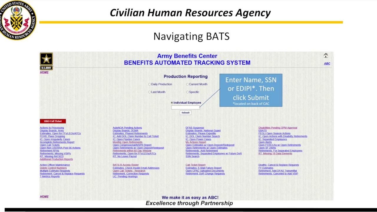 2018 ABC BATS R EBATS Army Benefits