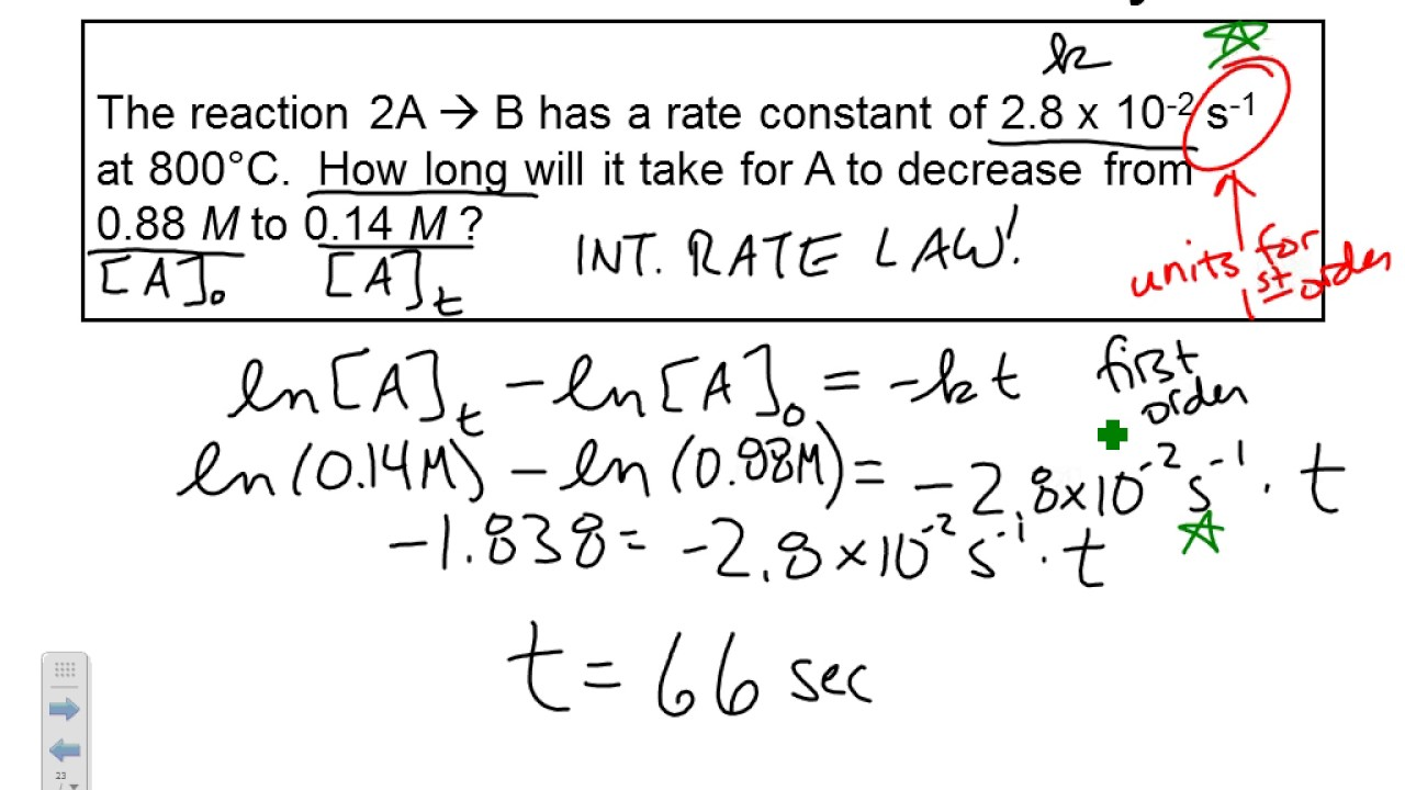 rate law 18 consider the reaction a + 2b c the rate law for this reaction is second order in a and second order in b if the rate constant at 25 c is 125 10-2 s-1, find the rate of reaction when the concentration of a is 027m.