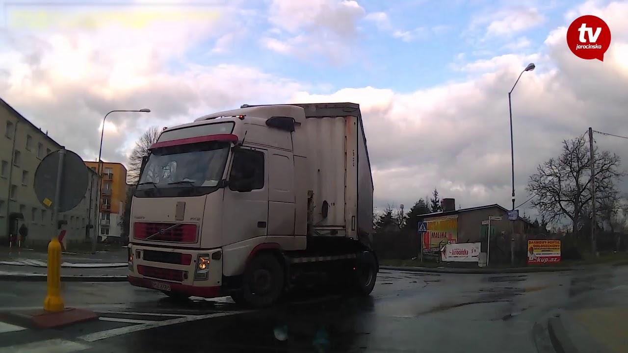 Rowerzysta cudem uniknął potracenia [www.jarocinska.pl]