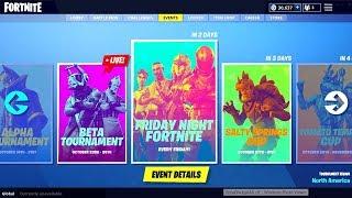 Fortnite: *NEW* TOURNAMENTS GAMEPLAY! Reward PIns Coming!