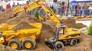 BIG RC excavator ACTION in 1/8 scale! Caterpillar! Atlas! Liebherr! - monsterchannel24
