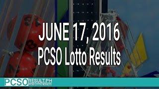 PCSO Lotto Results June 17, 2016 (6/58, 6/45, 4D, Swertres & EZ2)