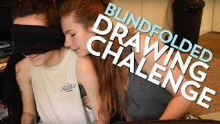 BLINDFOLDED DRAWING CHALLENGE || Angel and Nicole