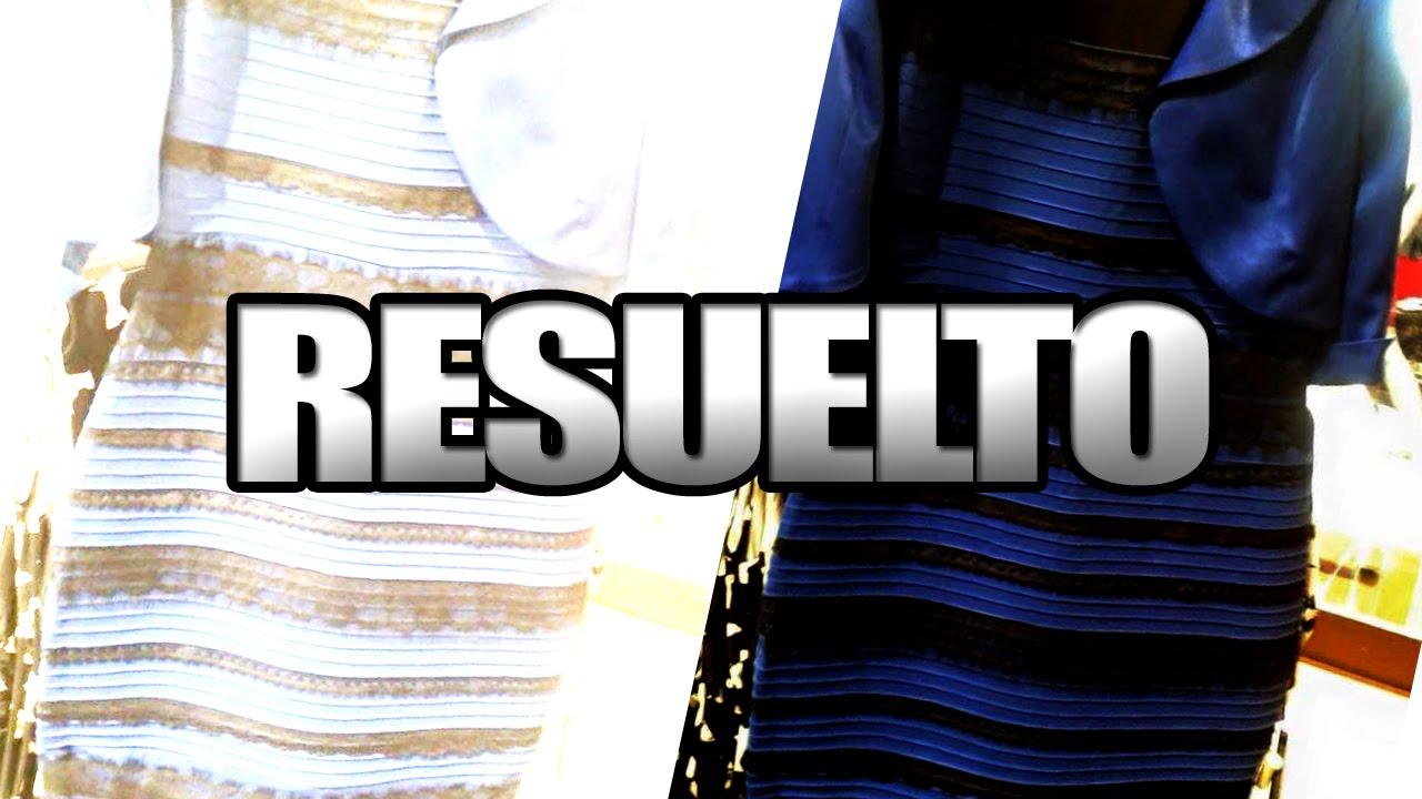Misterio Del Vestido Blanco Y Dorado Azul Con Negro Resuelto