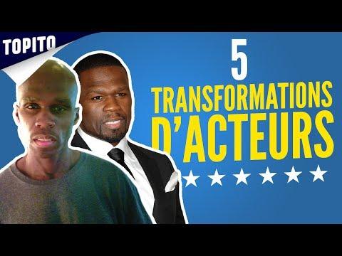 Top 5 des transformations de corps d'acteurs