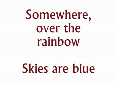 """""""Somewhere Over The Rainbow"""" From The Wizard Of Oz Karaoke/instrumental"""