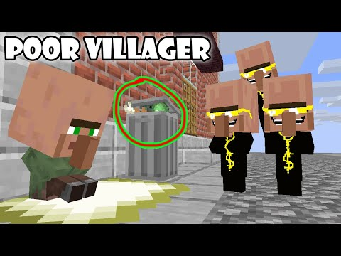 Monster School : Poor Villegar Baby Life Part 1- Minecraft Animation