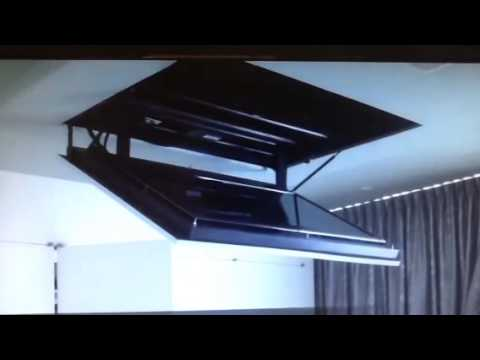 Motorized Flip Down Flat Screen Tv Ceiling Mount