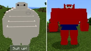 BayMaxบิ๊ดฮีโร่เพื่อนรักมีสองร่างด้วยกันคู่หูสุดเจ๋ง Minecraft PE 1.0.3 (ADDONS)