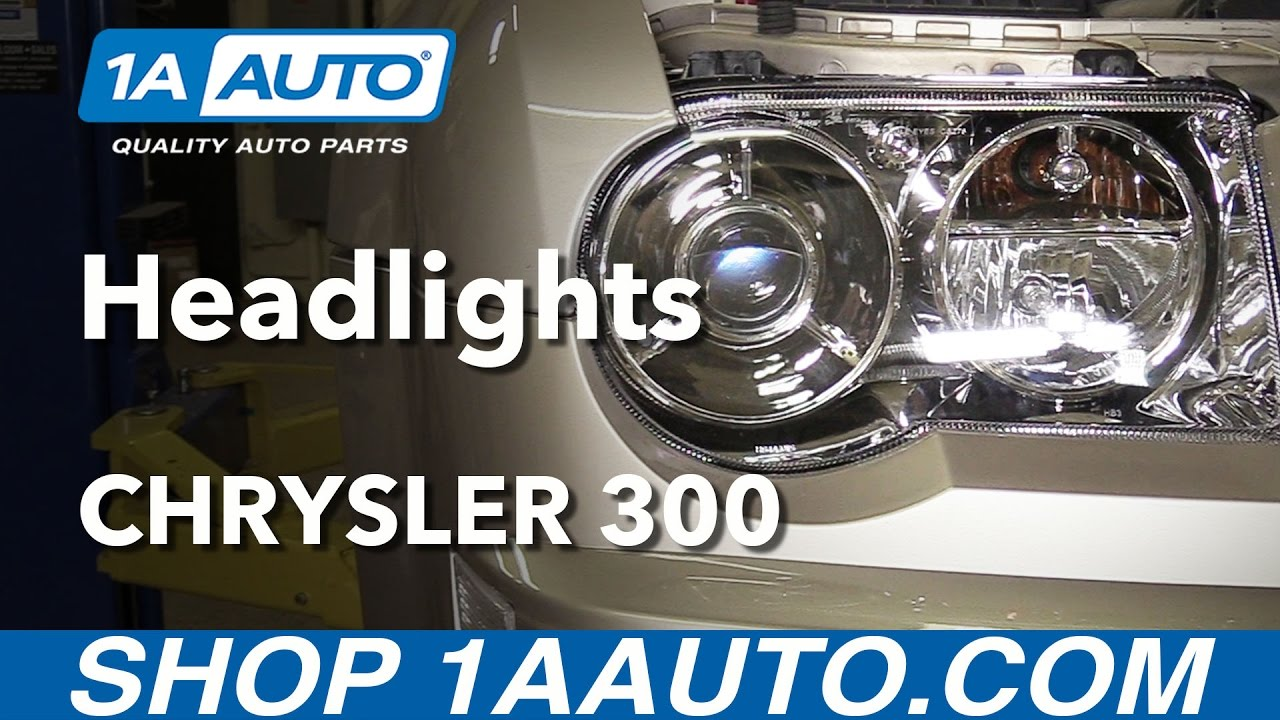 How To Replace Headlights 05 09 Chrysler 300 Youtube 300c Audio Wiring Diagram