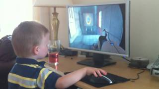 3 Year Old Plays Mirror S Edge Portal