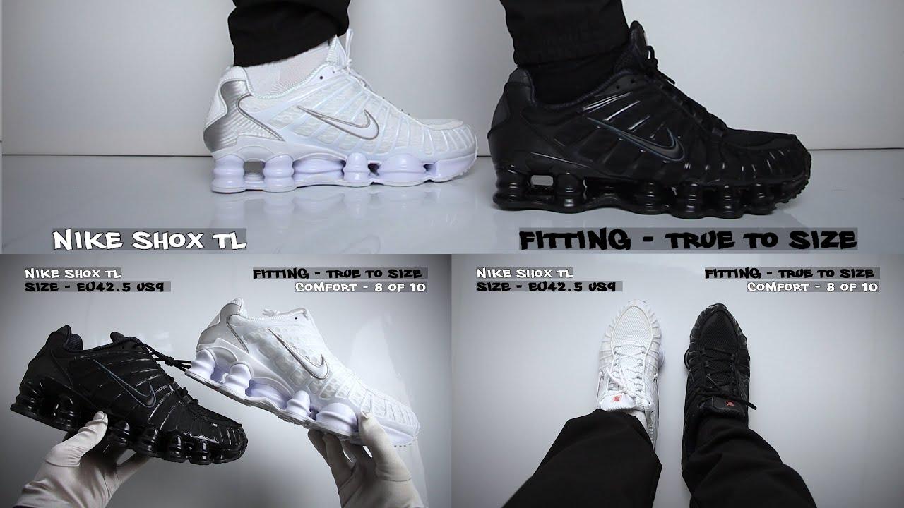 Nike Shox TL Black vs White - On Feet