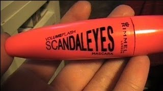 Real Time Review:  Rimmel Volume Flash Scandal Eyes Mascara