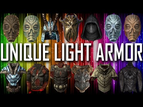 Skyrim - All Unique Light Armor Pieces & Sets