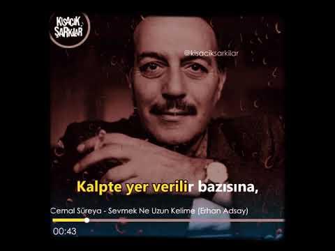 Cemal Süreyya Sevmek Ne Uzun Kelime Youtube