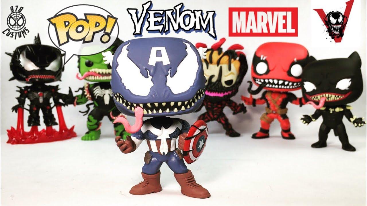 2018, Toy NEUF Funko Pop Marvel Venom // Captain America Marvel Venom