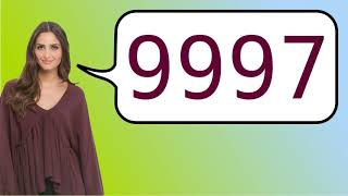 How to say '9997' in French?