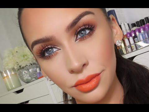 Orange Amp Copper Spring Makeup Tutorial Youtube