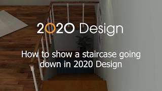 2020 Design Tip: How to show a staircase going down