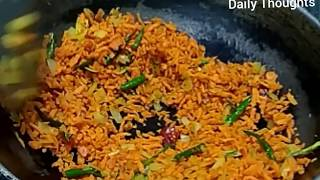 Carrot Rice Recipe||Quick and Easy Lunch Box Recipe||Carrot Fried Rice