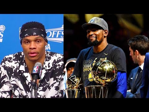 How Russell Westbrook Reacted To Kevin Durant & Warriors Becoming 2018 NBA Champions In Game 4!