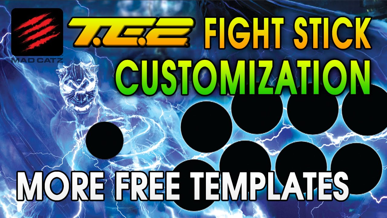 more te2 fight stick print ready custom templates youtube