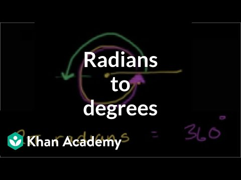 Example: Converting radians to degrees | Trigonometry | Khan Academy