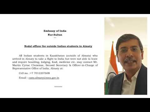Ambassador's message to all Indians in Kazakhstan | CoronaVirus News & Update ( Covid-19 ) | MBBS
