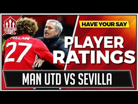 Manchester United vs Sevilla Player Ratings | FELLAINI & MOURINHO Bottom Of Class!