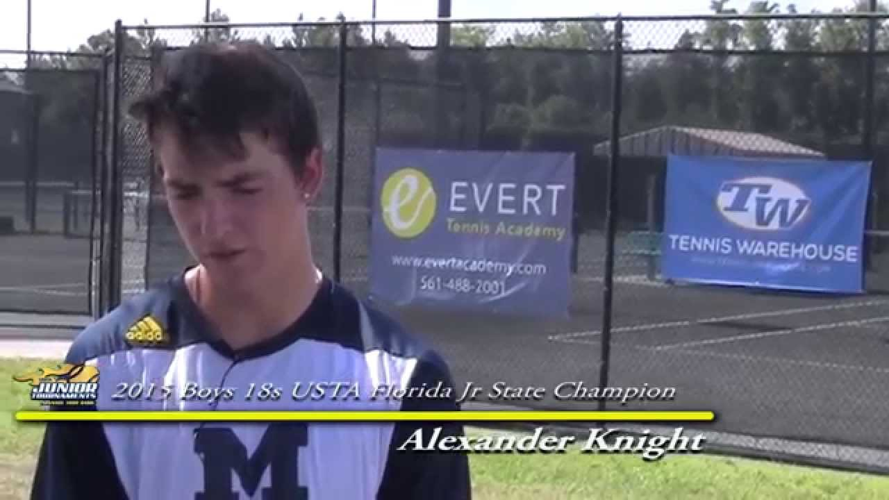 Alexander Knight - Boys 18s Champion 2015 USTA Florida Jr ...