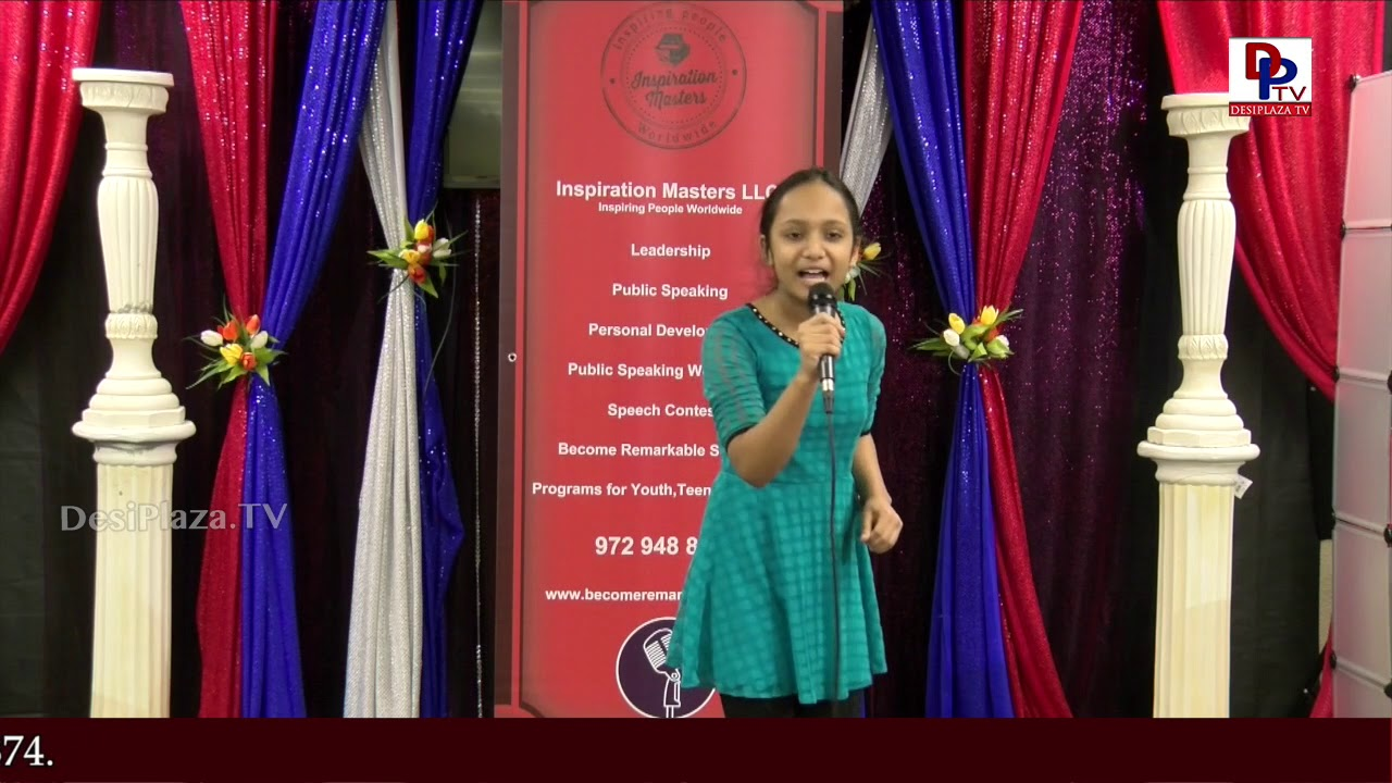 "Medolisa Iyer talks on ""Pooja gaseous patel"" at Talking Bee - Public Speaking Competitions - 2018"