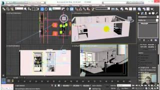 3ds Max vray Визуализация интерьера  урок 1