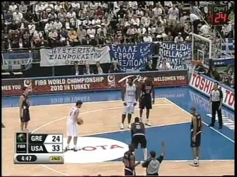 Vassilis Spanoulis Kill Bill Versus Team USA 2006 FIBA World Cup (Full)