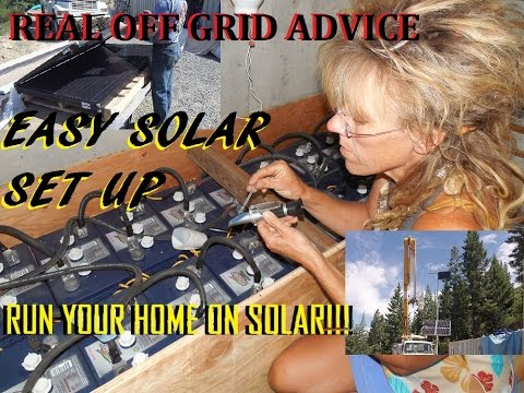 HOME SOLAR POWER SYSTEM: OFF GRID WALK THRU