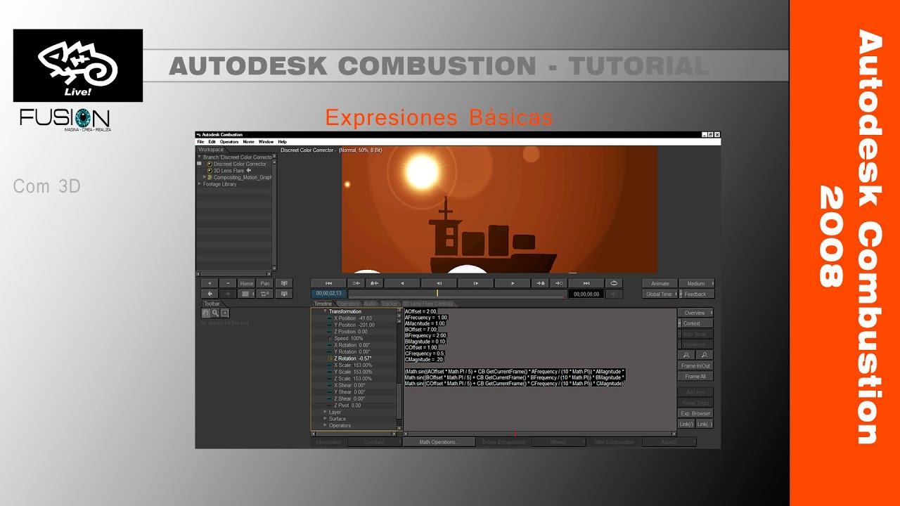 tutorial autodesk combustion 2008 expresiones iniciaci n youtube rh youtube com Combustion Software Combustion Program