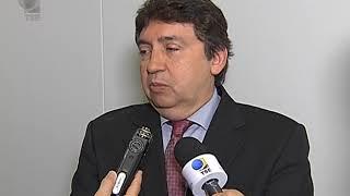 O presidente do Tribunal Superior Eleitoral, ministro Luiz Fux, recebeu o desembargador Márcio Vidal, presidente do Tribunal Regional Eleitoral de Mato Grosso e do Colégio de Presidentes...