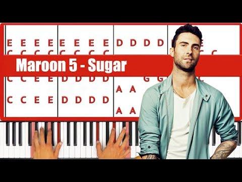 Play Sugar Maroon 5 Piano Tutorial - EASY