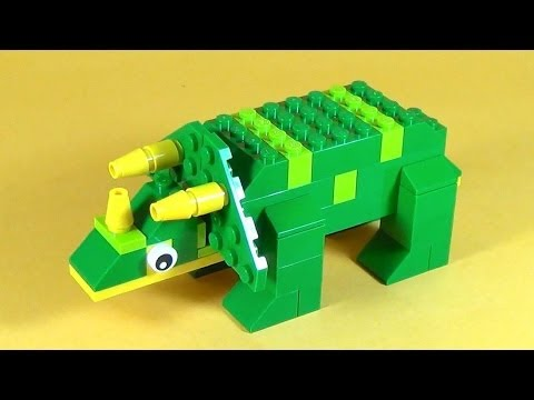 How To Make Lego Dinosaur Triceratops 10664 Lego Bricks And More