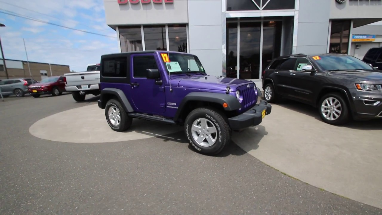 2017 Jeep Wrangler Sport Extreme Purple Hl605173 Mt