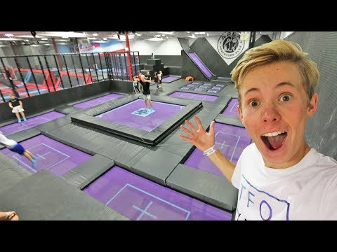 Thumbnail: SURPRISING A FAN WITH TRAMPOLINES!