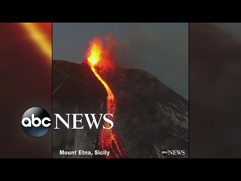 See Awesome Drone Footage: Mount Etna Volcano Erupts!