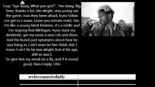 Big sean - nothing is stopping you [official lyrics]