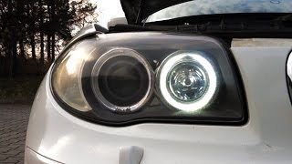 don t use those h8 led bulbs for bmw halo rings