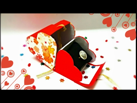 Heart Shaped Cardboard box with Lid || Valentine Gift Box || Gift boxes Ideas || Cheap gift boxes