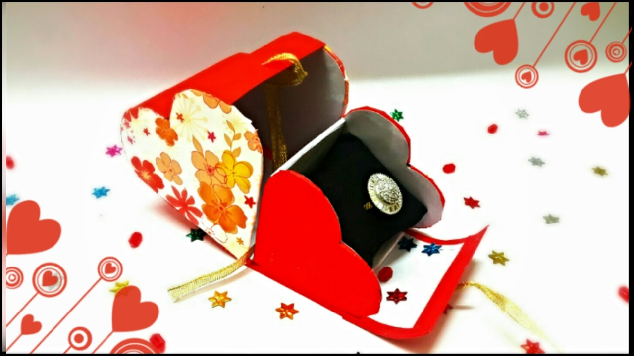 Heart Shaped Cardboard Box With Lid Valentine Gift Box Gift