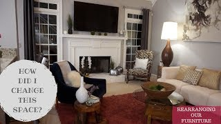 REARRANGING FURNITURE TO MAKE ROOM LOOK BIGGER | HOW TO TIPS