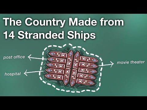 The Country Made from 14 Stranded Ships