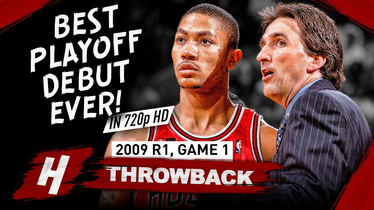 4fb43aaa5f0b 20 Yr-OLD Derrick Rose GREATEST Playoff DEBUT EVER! Full Game 1 Highlights  vs Celtics 2009 - 36 Pts!